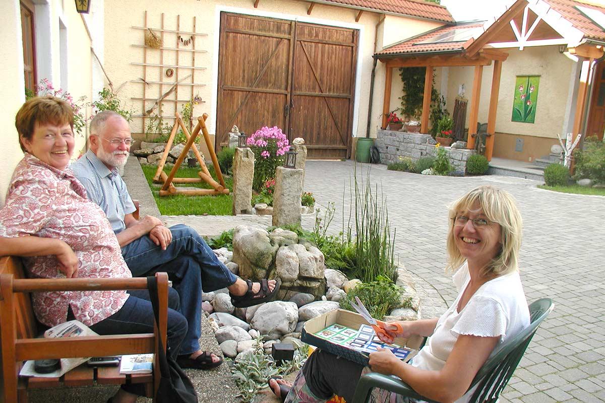 Geselligkeit im Innenhof, Prinzenhof
