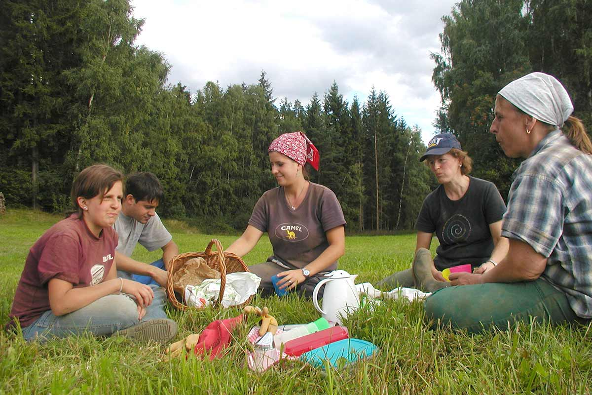 Picknick während der Erdäpfelernte, Prinzenhof
