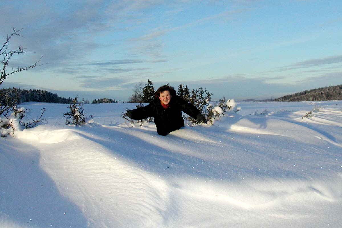 Schneewächten hupfen am Prinzenhof