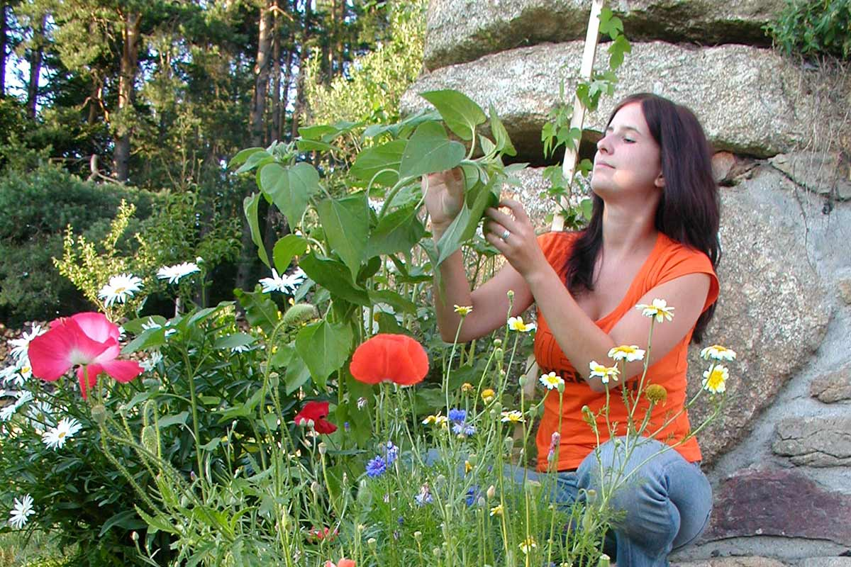 Kräuter- und Blumengarten Prinzenhof, mit Kathi