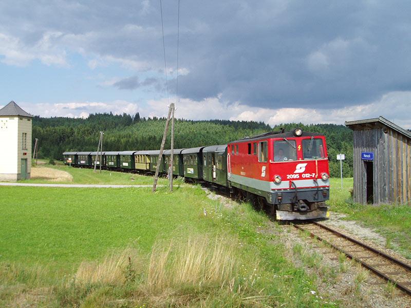 Waldviertelbahn bei Harruck nahe Langschlag