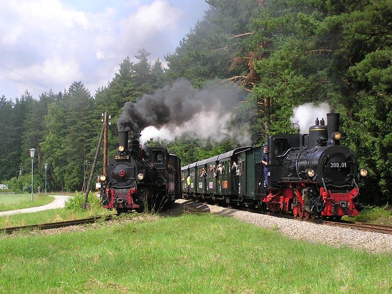 Waldviertelbahn Doppeltraktion Fotografenfahrt Foto(c) Brüder Scherney