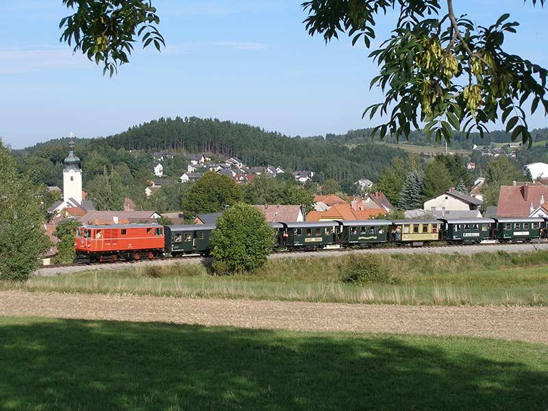 Waldviertelbahn bei Groß Gerungs (Kopfbahnhof)